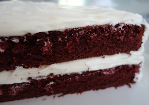 Super moist and luxurious! Red Velvet Cake with decadent cream cheese frosting  seem's to be everyone's favorite!